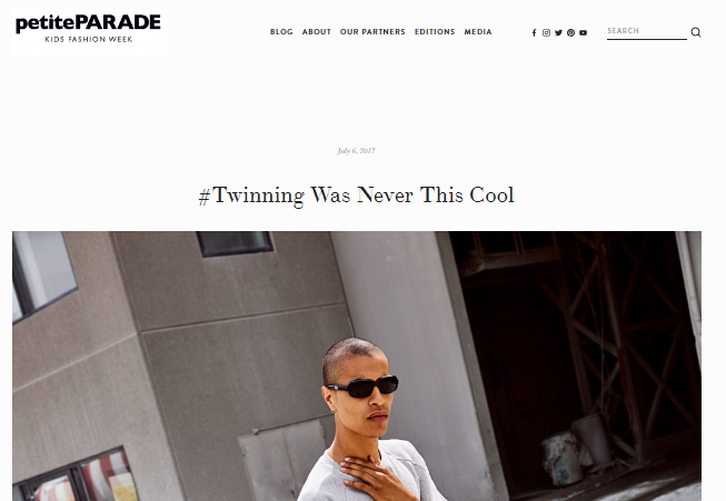 Petite Parade: Twinning was never this cool