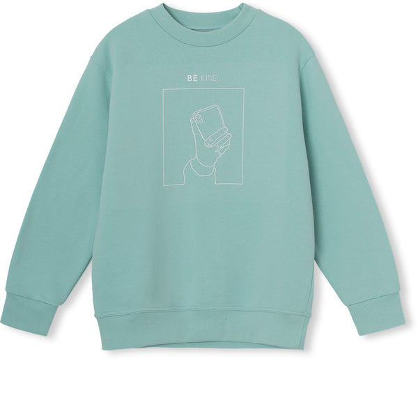 Be Kind Sweatshirt - Pastel Turquoise
