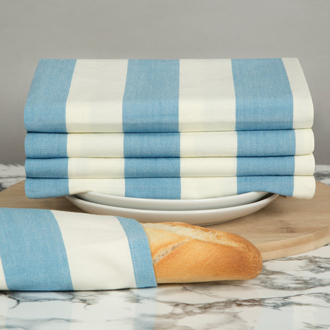 Sticky Toffee Cornwall Chic Tea Towels in Blue