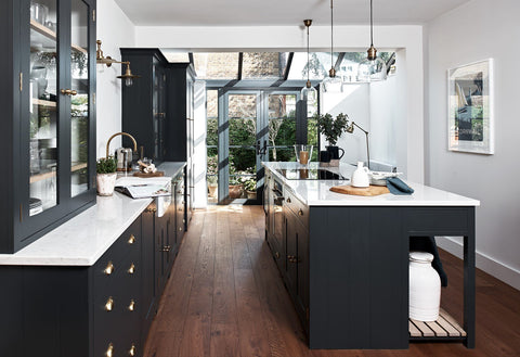 Neptune Kitchen using dark painted cupboards