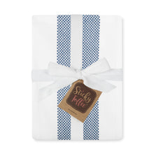 Load image into Gallery viewer, Set of 5 Thick Cotton Drill Mini Check Striped Tea Towels in Five Colours - Sticky Toffee Store