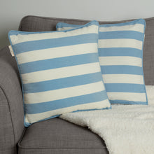 Load image into Gallery viewer, Set of 2 Woven Striped Cotton Cushion Covers in Three Colours - Cornwall Chic - Sticky Toffee Store