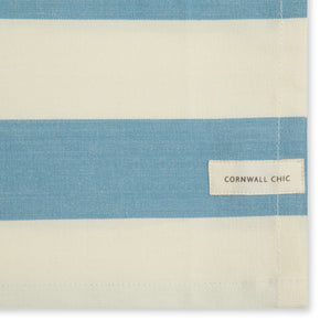 Set of 5 Woven Striped Cotton Tea Towels in Three Colours - Cornwall Chic - Sticky Toffee Store
