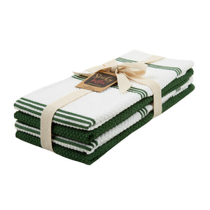 Set of 4 Cotton Terry Tea Towels available in Nine Colours - Sticky Toffee Store