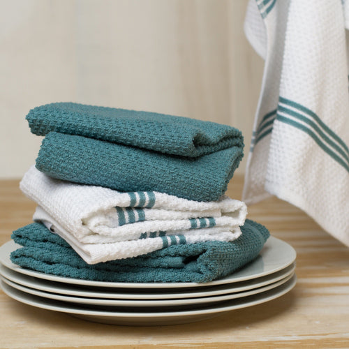 Set of 4 Cotton Terry Tea Towels available in Seven Colours - Sticky Toffee Store