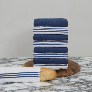Large Set of 9 Cotton Terry Tea Towels in 5 Colours - Sticky Toffee Store