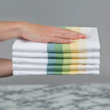 Load image into Gallery viewer, Set of 5 Multi-Coloured Herringbone Cotton Tea Towels in Five Colours - Sticky Toffee Store