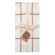 Load image into Gallery viewer, Set of 5 Window Pane Cotton Terry Tea Towels available in Four Colours - Sticky Toffee Store