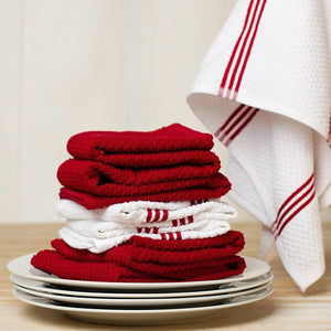 Set of 4 Cotton Terry Tea Towels available in Eight Colours - Sticky Toffee Store