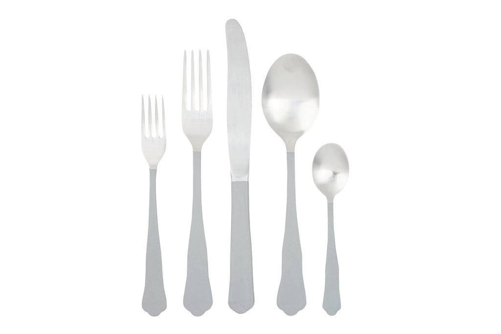 Jaipur Cutlery Set in Light Grey