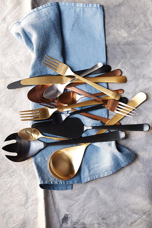 Oslo Salad Servers in Matte Copper - Canvas Home