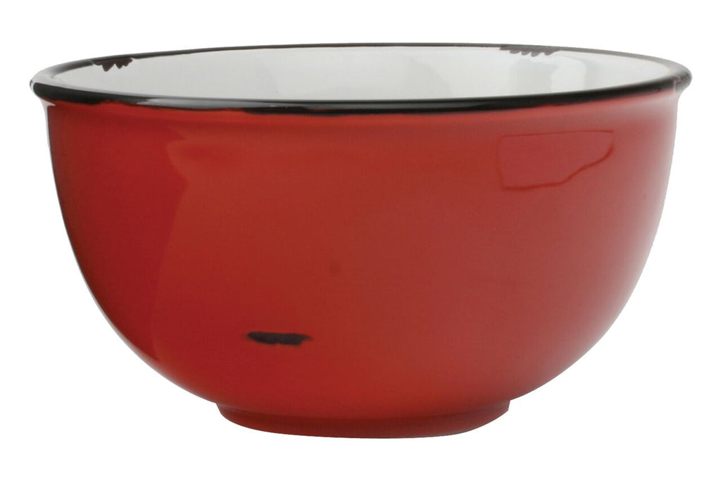 Tinware Tall Bowl in Red (Set of 4)