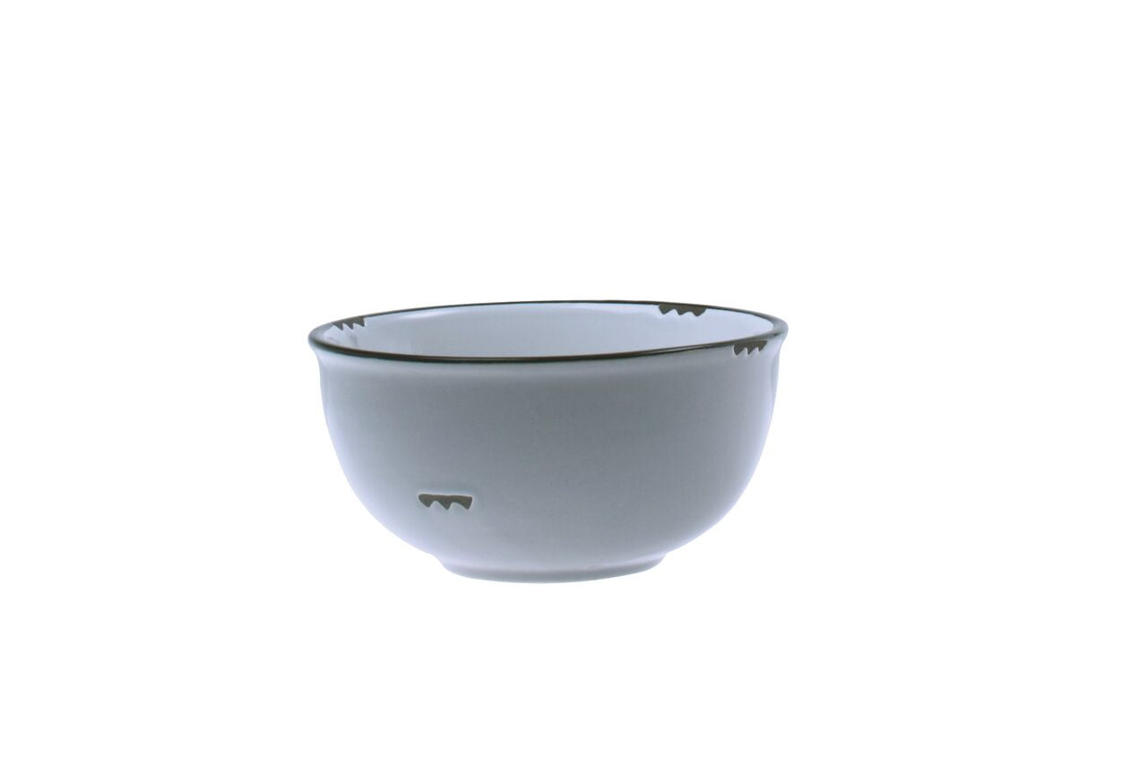 Tinware Small Bowl in Light grey (Set of 4)