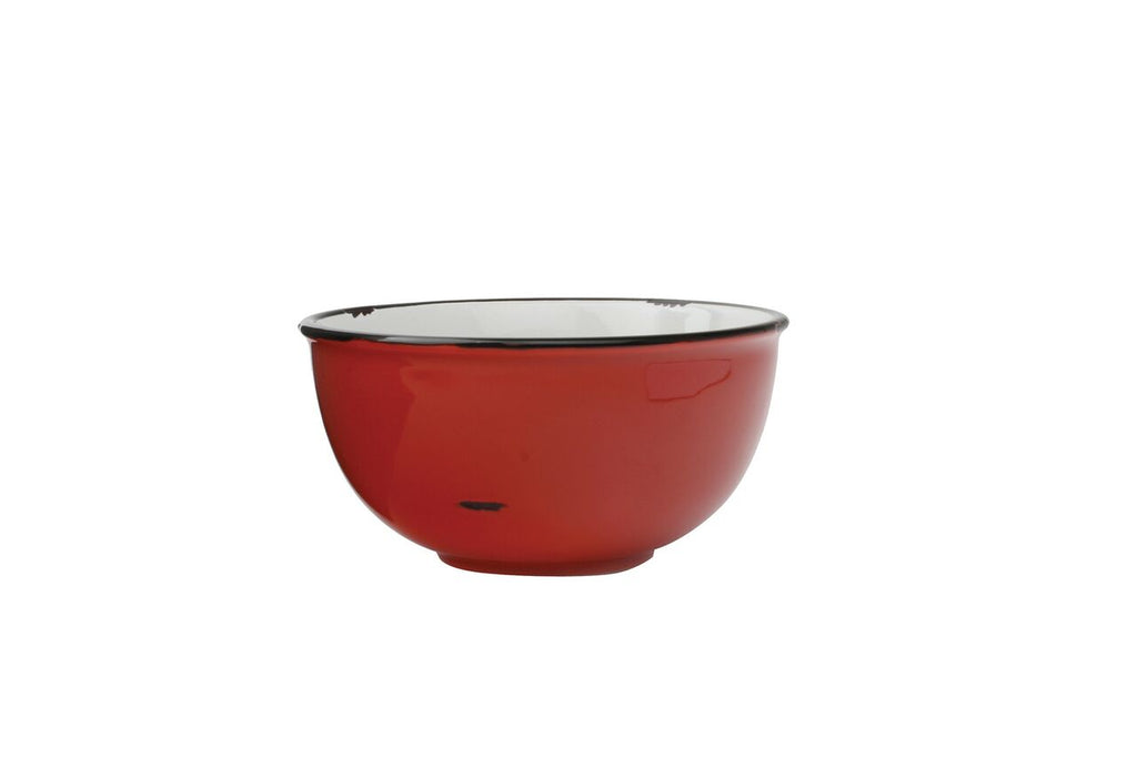 Tinware Small Bowl in Red (Set of 4)