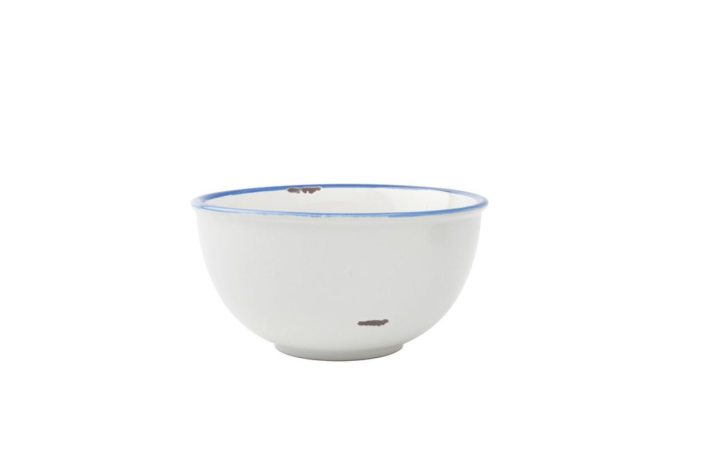 Tinware Small Bowl in White (Set of 4)