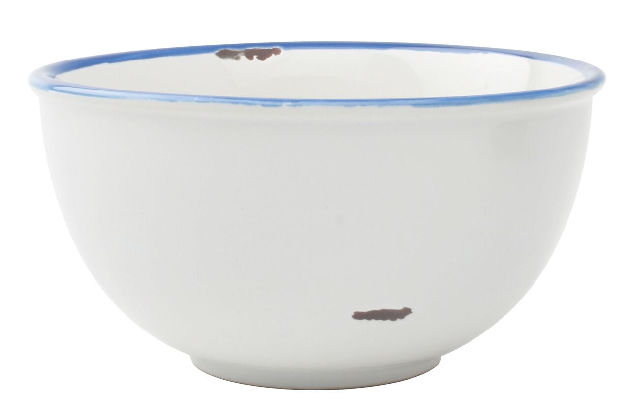 Tinware Tall Bowl in White (Set of 4)
