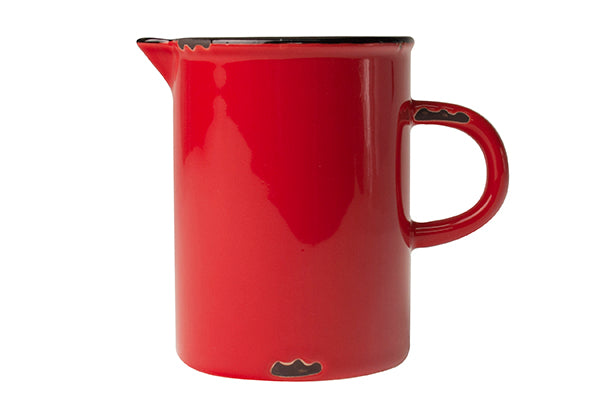 Tinware Creamer in Red
