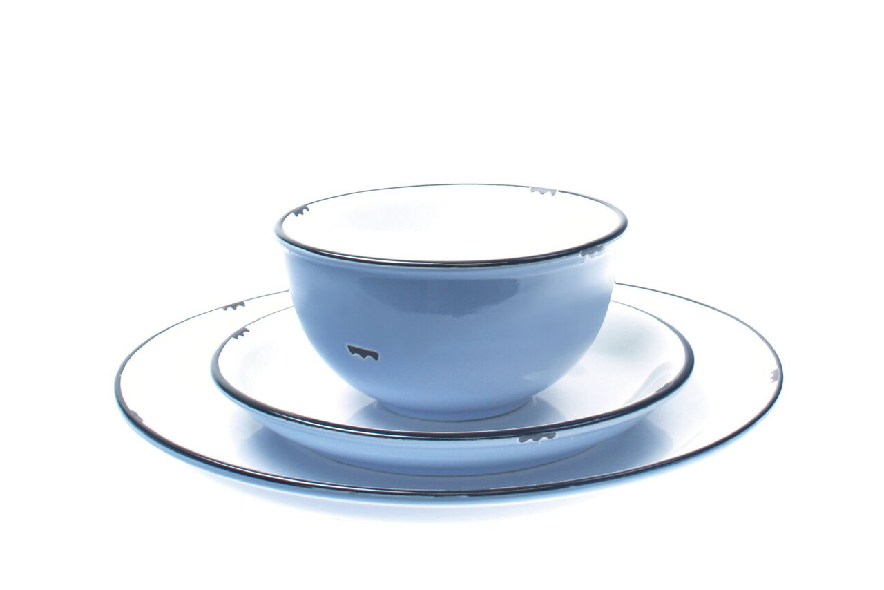 Tinware Side Plate in Cashmere blue (Set of 4)