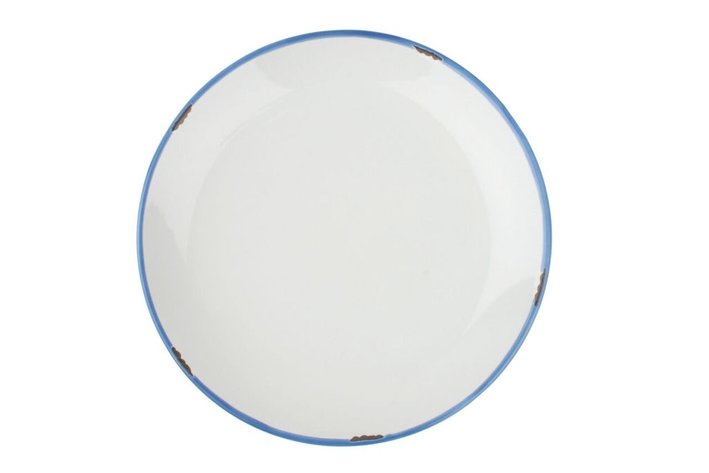 Tinware Dinner Plate in White (Set of 4)