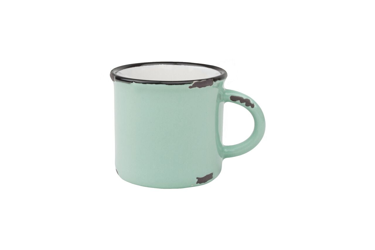 Tinware Espresso Mug in Pea Green (Set of 4)