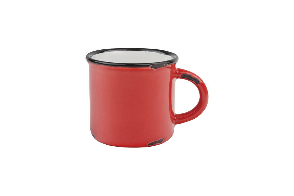 Tinware Espresso Mug in Red (Set of 4)