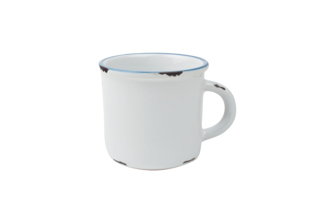 Tinware Espresso Mug in White (Set of 4)