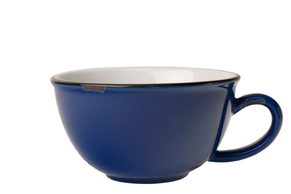 Tinware Latte Cup in Blue (Set of 4)