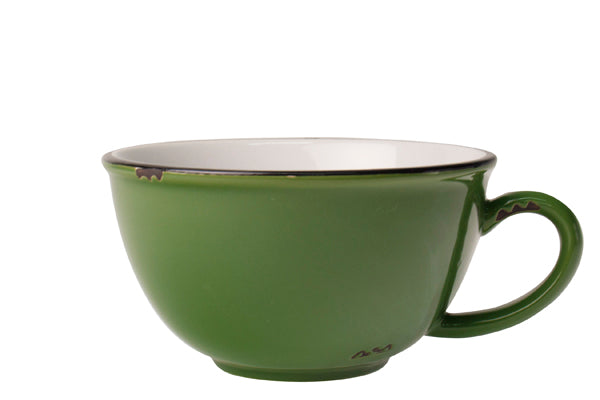 Tinware Latte Cup in Green (Set of 4)