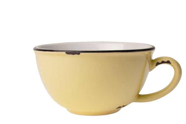 Tinware Latte Cup in Yellow (Set of 4)