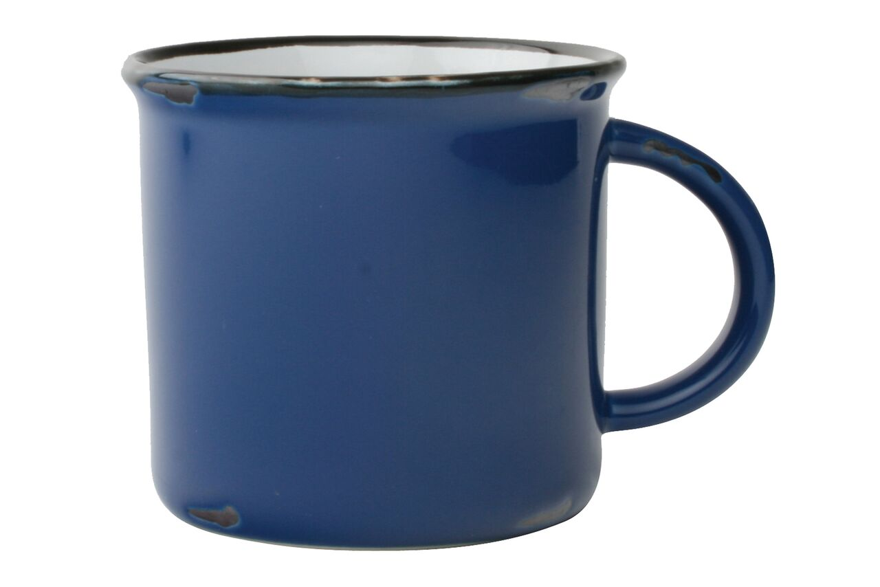 Tinware Mug in Blue (Set of 4)