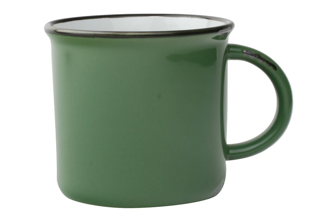 Tinware Mug in Green (Set of 4)