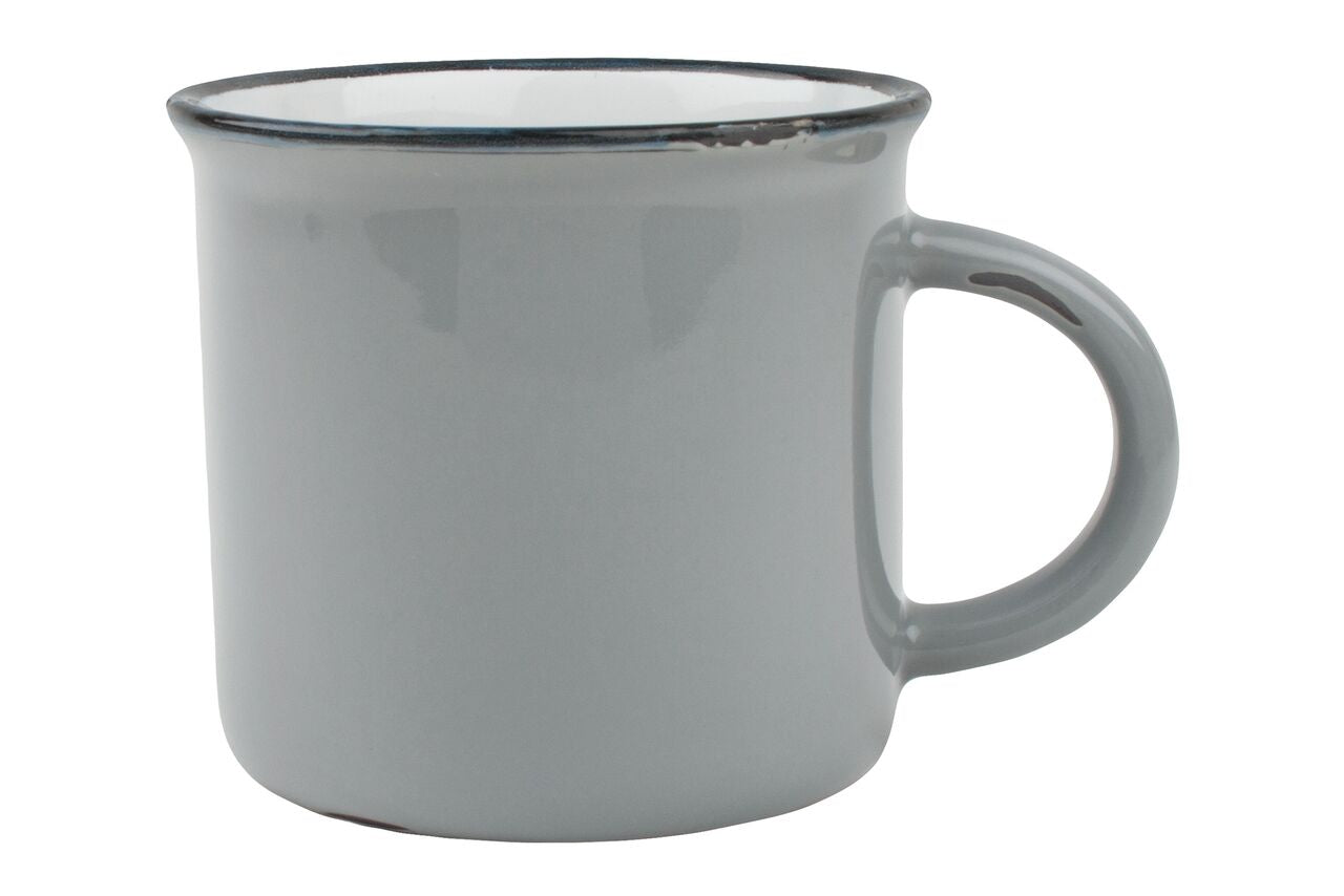 Tinware Mug in Light Grey (Set of 4)