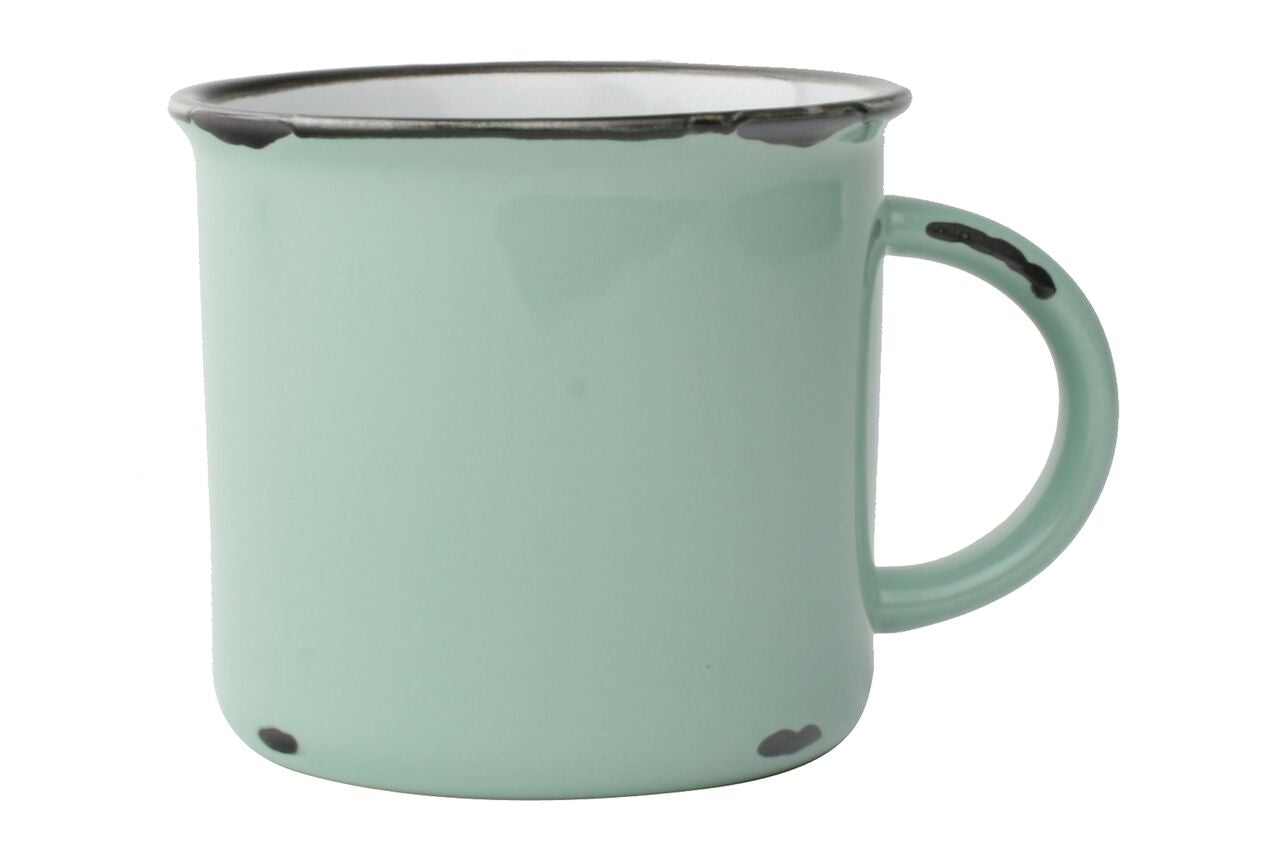 Tinware Mug in Pea Green (Set of 4)