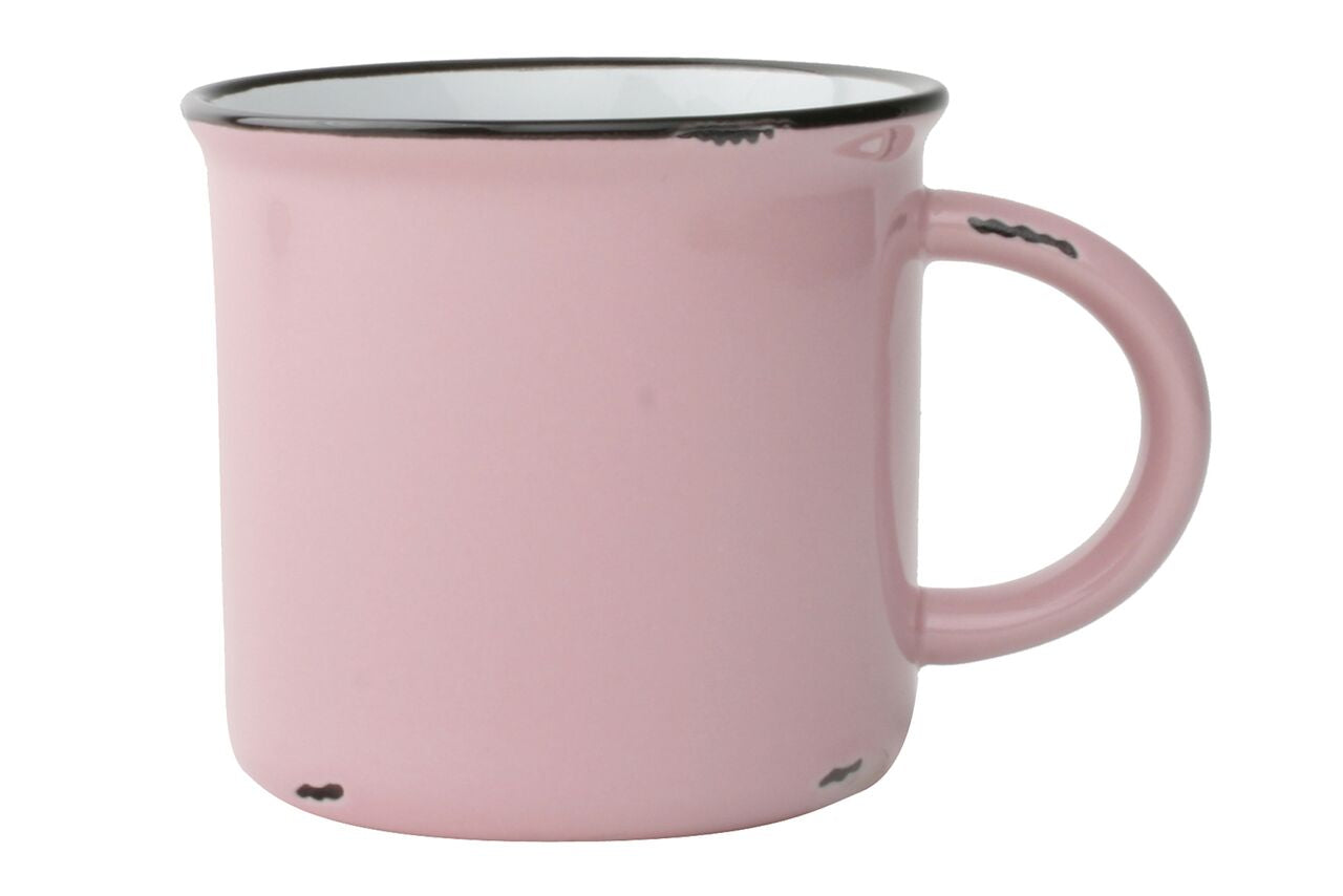 Tinware Mug in Pink (Set of 4)