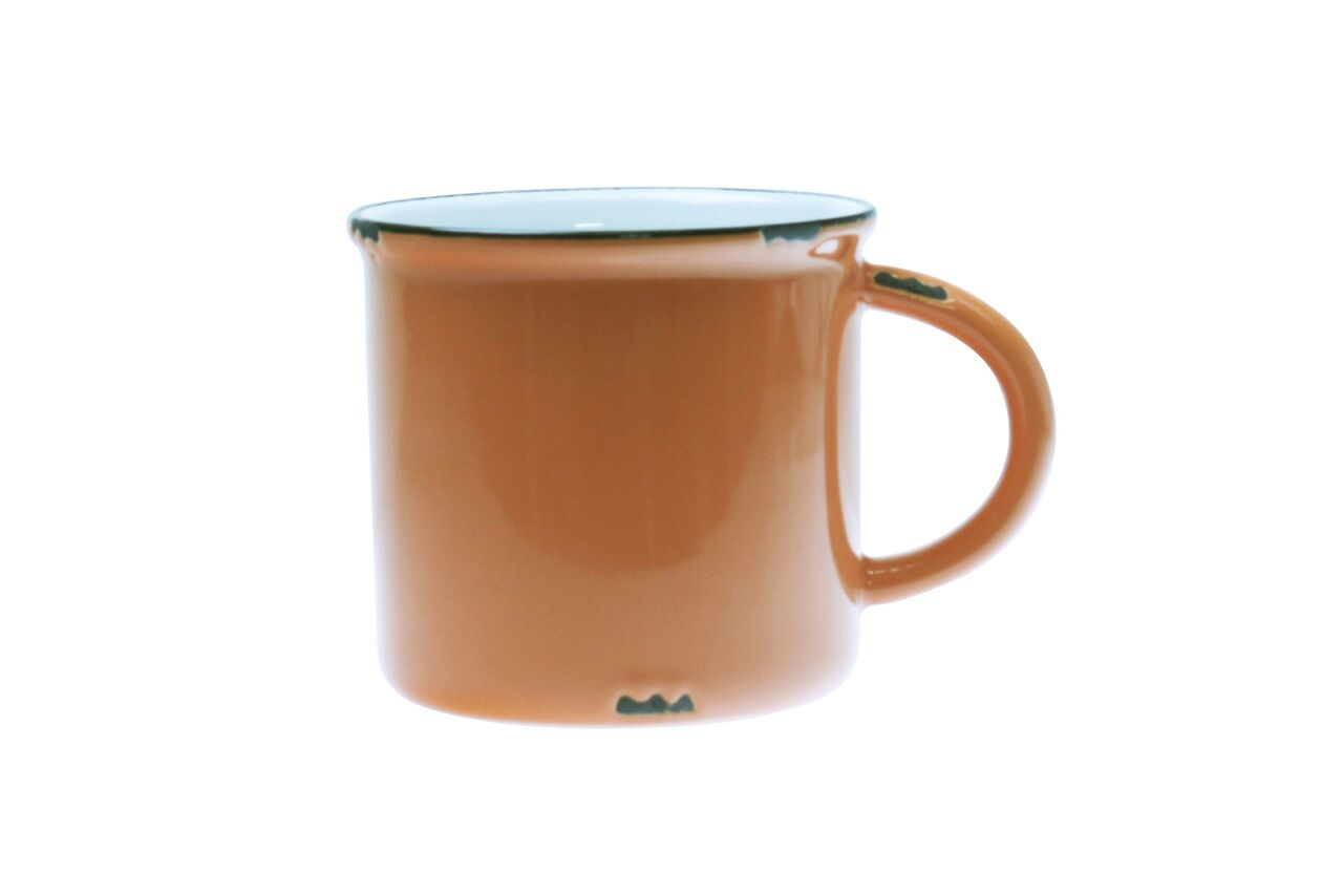 Tinware Mug in Burnt orange (Set of 4)