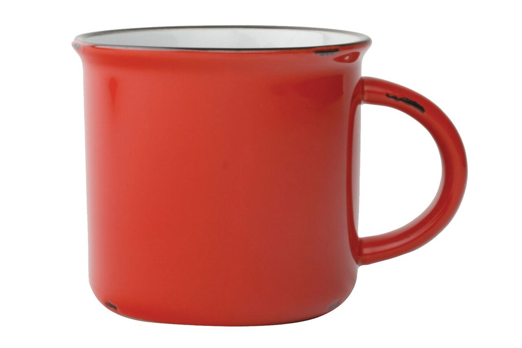Tinware Mug in Red (Set of 4)