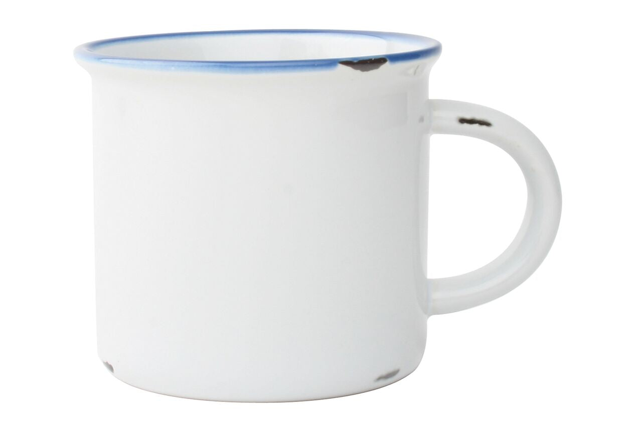 Tinware Mug in White (Set of 4)