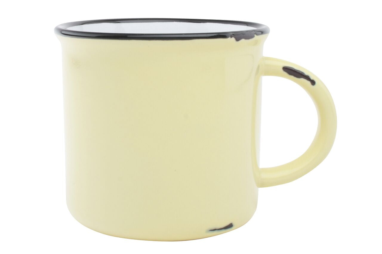Tinware Mug in Yellow (Set of 4)