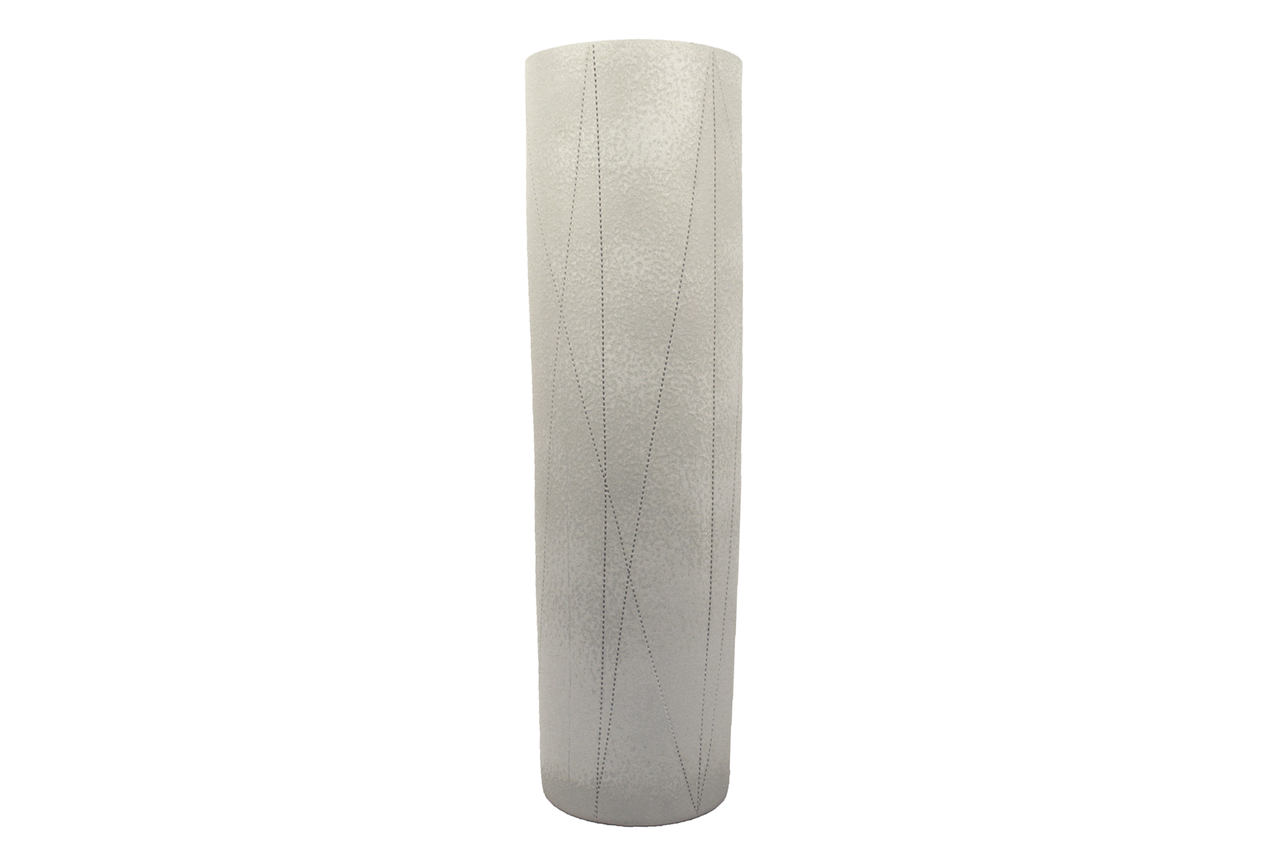 Medium Taroudant Vase in White Leather Glaze