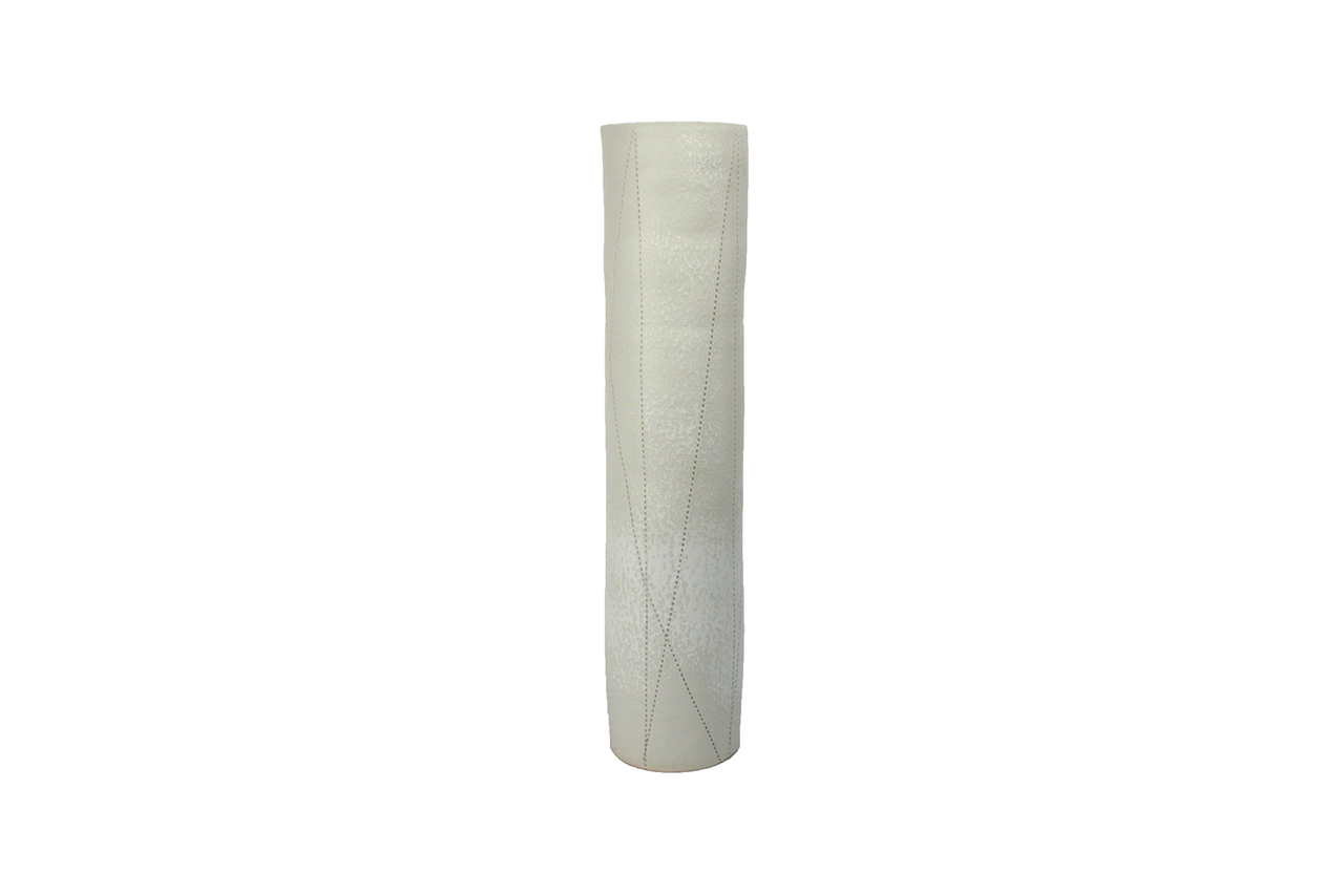 Small Taroudant Vase in White Linen Texture