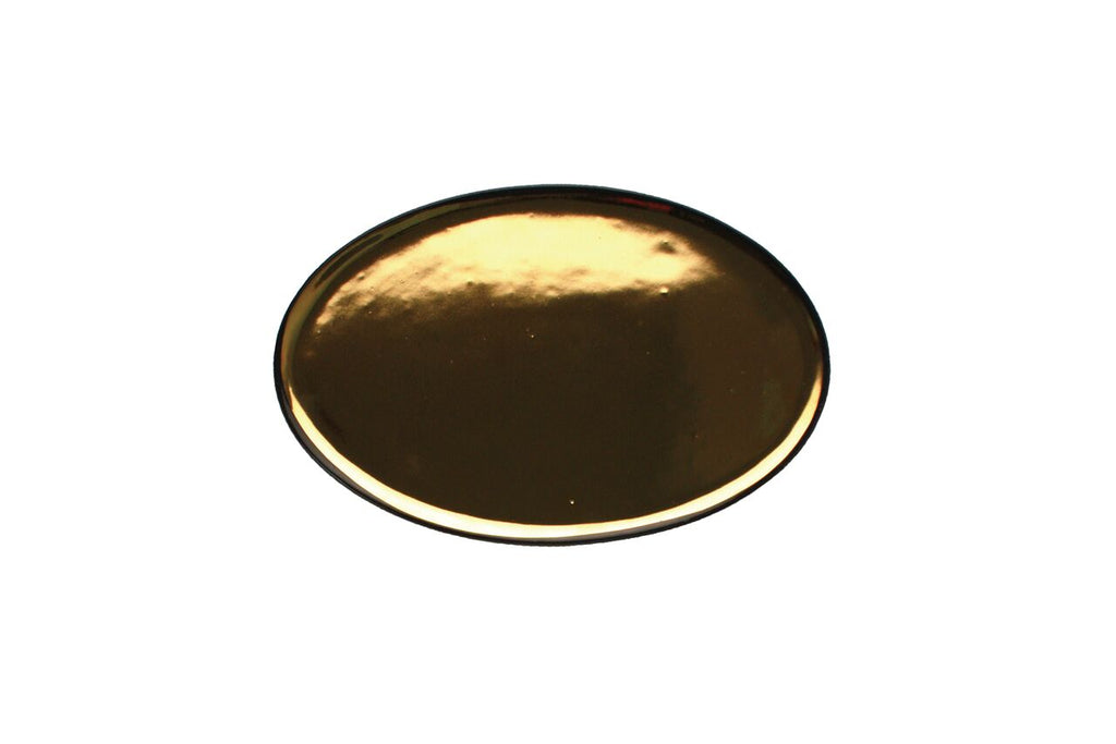 Dauville Charcoal Oval Platter in Gold - Small