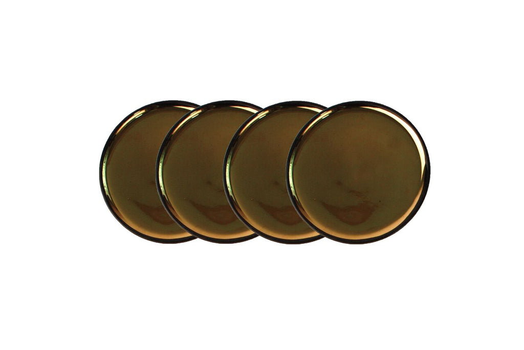 Dauville Charcoal Gold Coasters (Set of 4)