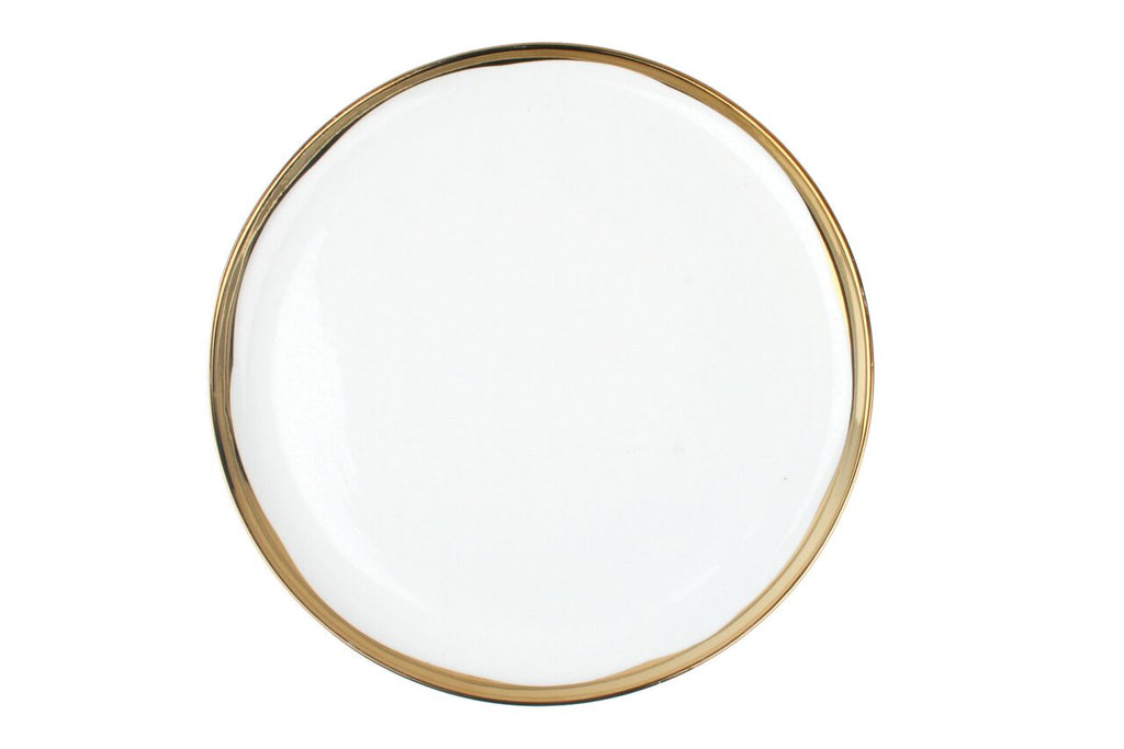 Dauville Dinner Plate in Gold (Set of 4)