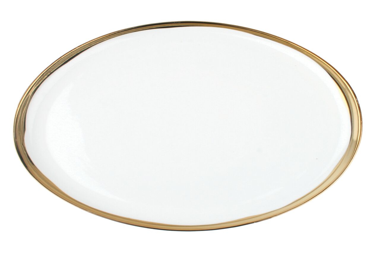 Dauville Platter with Gold Rim - Large