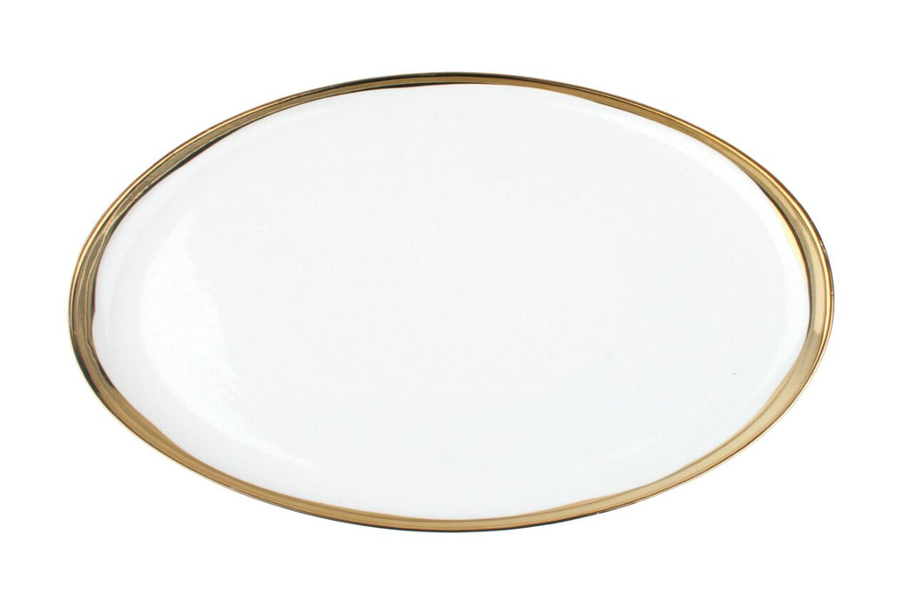 Dauville Platter with Gold Rim - Small
