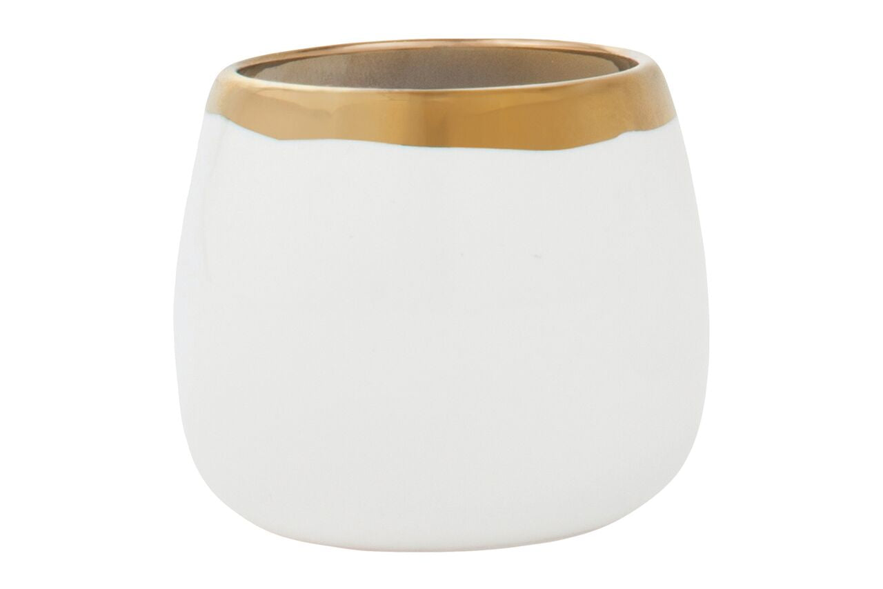 Dauville Round Votive Gold Rim (Set of 2)