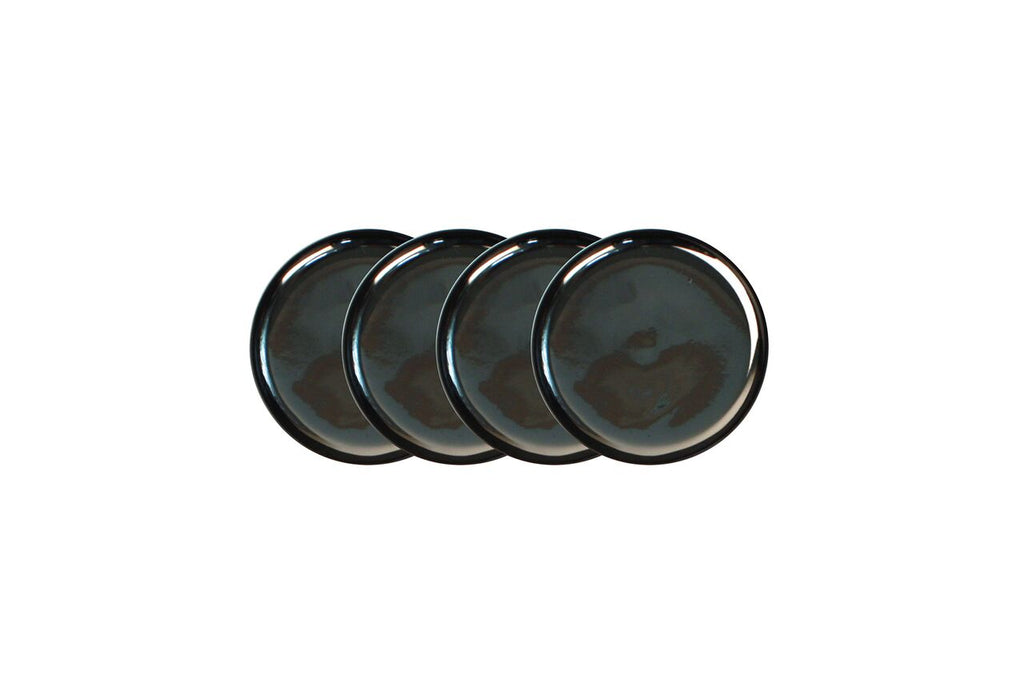 Dauville Charcoal Platinum Coasters (Set of 4)