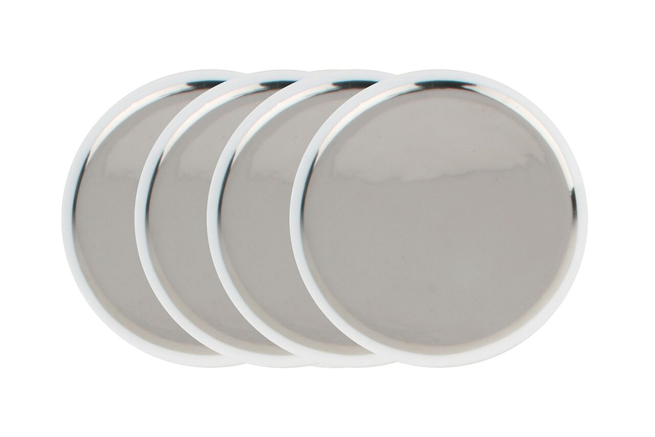 Dauville Coasters in Platinum (Set of 4)