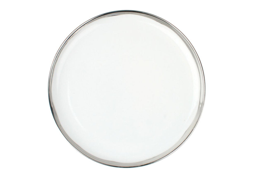 Dauville Dinner Plate in Platinum (Set of 4)