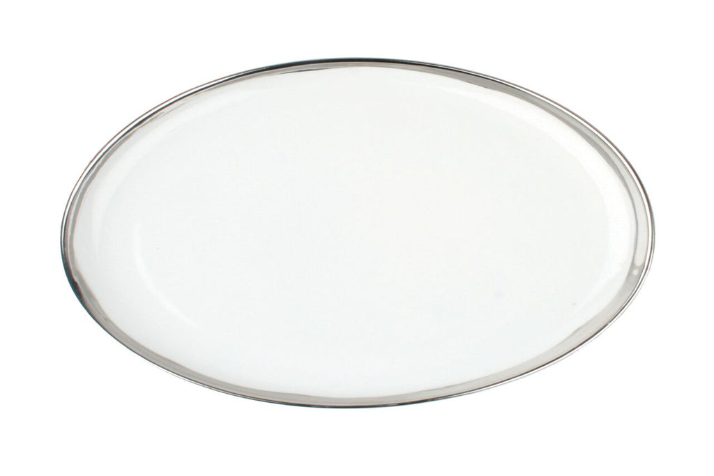 Dauville Platters with Platinum Rim - Large